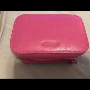 Fossil Leather Travel Jewelry Case